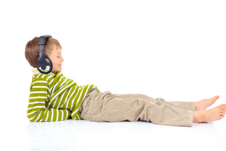 Boy with headphones Stock Photo - 4615297