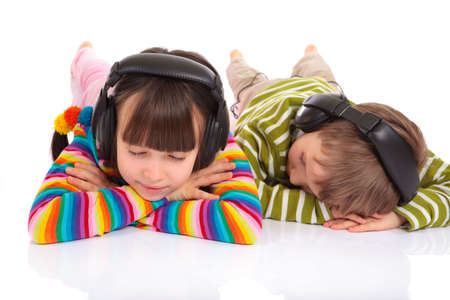 Children listening to music