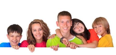 adolescents: Happy children Stock Photo