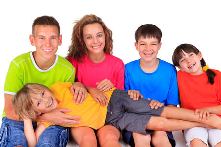 Happy brothers and sisters Stock Photo - 17346011