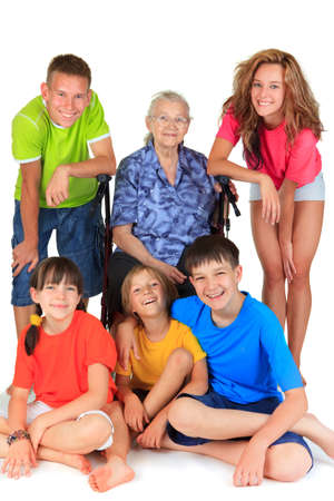 Grandmother and grandchildren  Stock Photo - 17345249