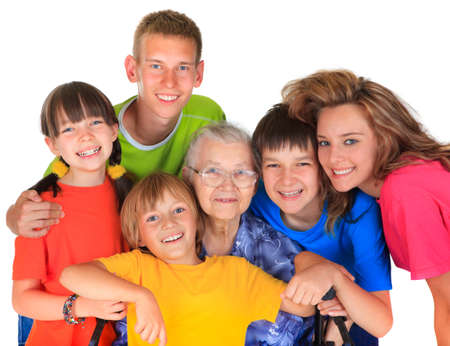 Grandmother and grandchildren Stock Photo - 17345241