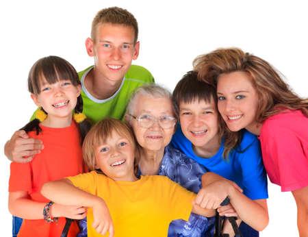 Grandmother and grandchildren Stock Photo - 17345241