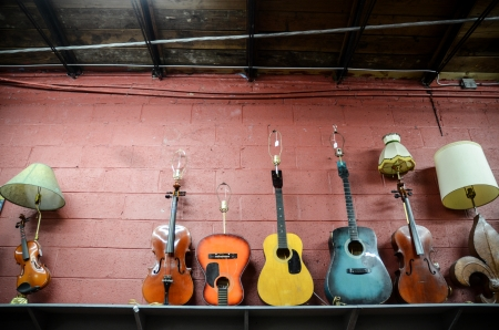 colorful guitars photo