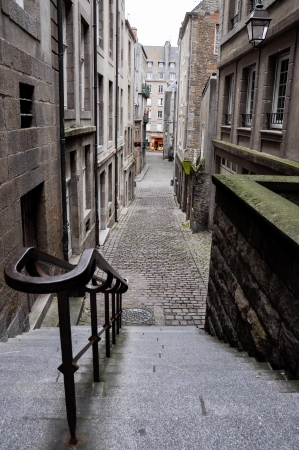 Streets of Saint Malo, France photo