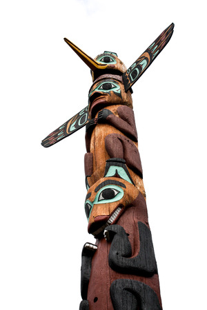 alaska wooden totem photo
