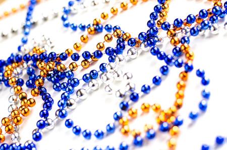 mardi gras beads photo