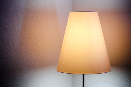 detail of hotel room lamp photo
