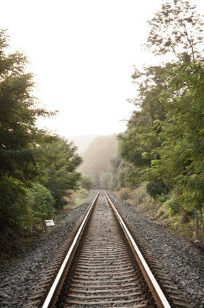 railroad with perspective going to nowhere