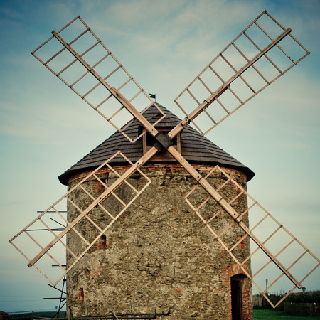 traditional windmill: traditional windmill with toning effect