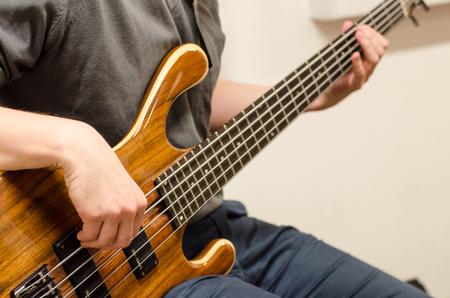 bass player: bass player hands