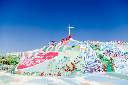 Colorful Salvation mountain California, USA