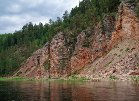 lena: On the banks of the Siberian small river of Lena