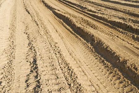 Track on sand photo