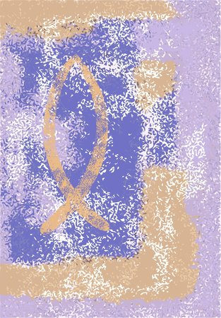 ichthys: ichthys - grunge, blue, orange, violet