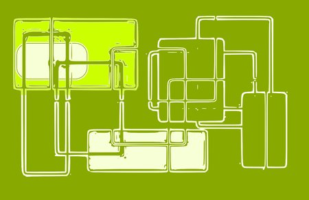 pipework: Abstract geometric image - green colour Stock Photo