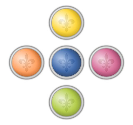coloured fleur de lis buttons  photo