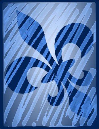 Fleur de lis reflection - illustration Stock Photo