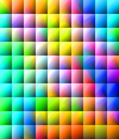 envisage: Cool rainbow colored background - squared pattern - illustration