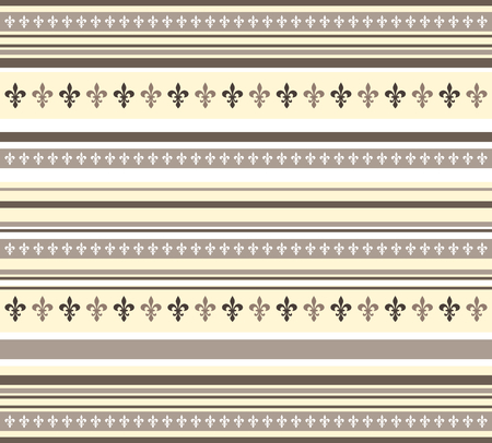 Fleur de lis pattern in yellow,white and brown - vector Vector