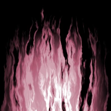 fireplace lighter: Flaming violet fire on a black background - illustration
