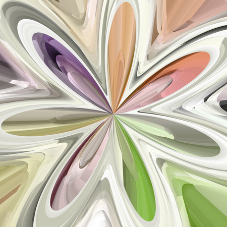 tonality: Abstract colorful bloom shape - illustration
