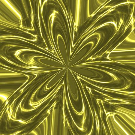 tonality: Twinkling metallic flower in green spectrum - illustration