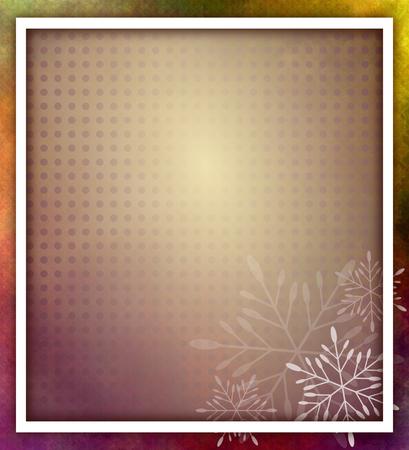 tonality: Christmas frame with snowflakes - grunge style - illustration