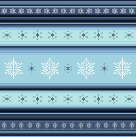 tonality: Winter striped background with snowflakes - illustration