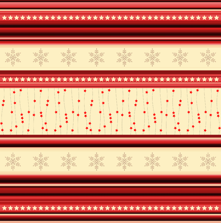 tonality: Christmas stripy pattern with stars and snowflakes- illustration