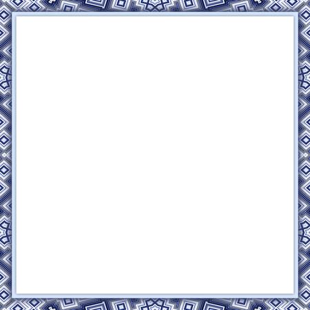 Patterned frame with blank paper - copy space - illustration illustration