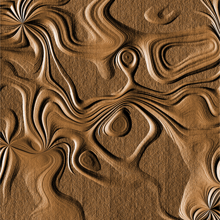 Abstract generated wood carving texture in brown