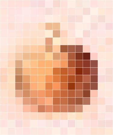pastel tone: Apple motif mosaic in pastel colors