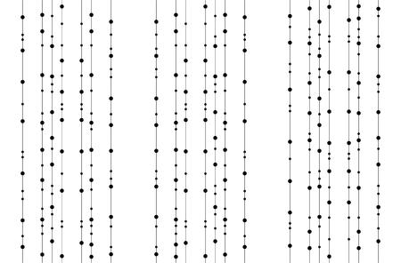 dangle: Seamless ghirlanda tratteggiata in colore nero su sfondo bianco