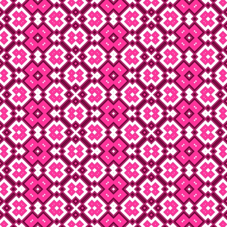 Seamless geometric pattern in pink spectrum on white background photo