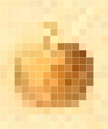 fragmented: Yellow apple mosaic background or texture