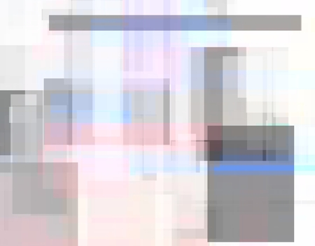 Abstract background with geometric objects on white photo