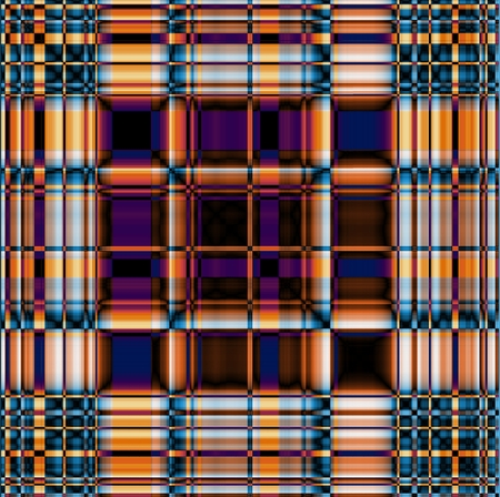 gingham pattern: Funky contrasting gingham pattern in blue, violet and orange colors Stock Photo
