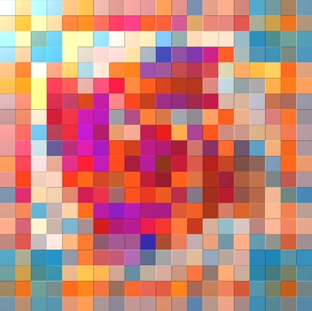 garish: Groovy colorful relief mosaic background or texture Stock Photo