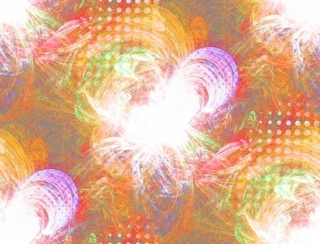 garish: Seamless textured plasmatic background with halftone effect