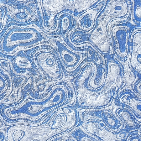 embossed: Relief texture in blue,  embossed surface effect