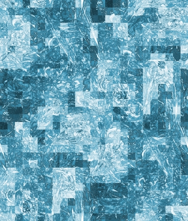 spectrum: Art abstract background, seamless pixelated pattern in blue spectrum
