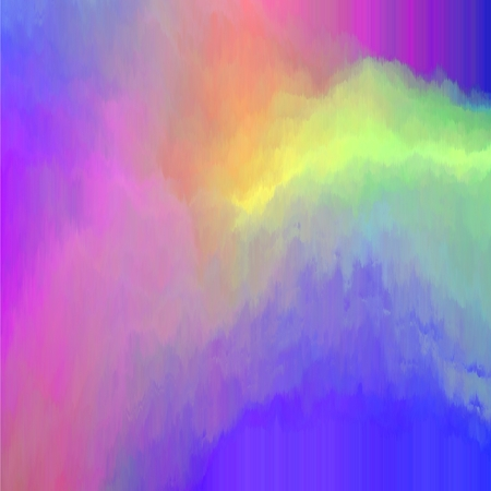 smudgy: Pseudo oil painting in blue, pink and yellow spectrum