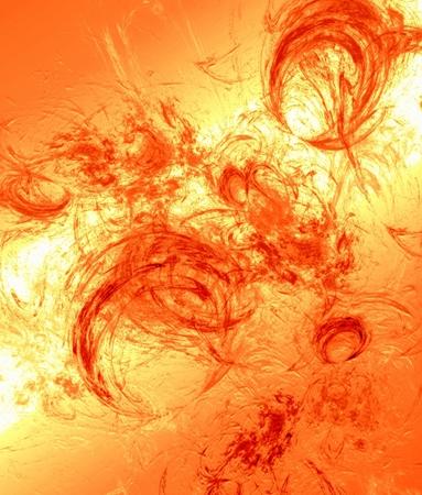 spot lit: Abstract shape drawing in orange spectrum