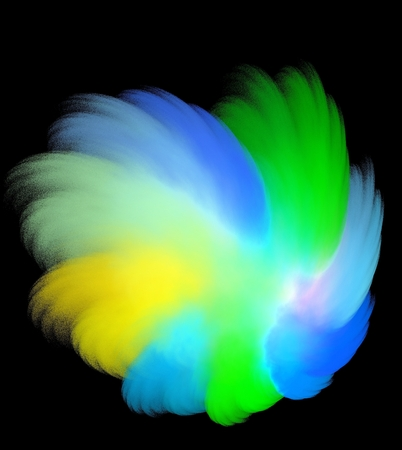 smudgy: Iridescent colored pastel stains on black background
