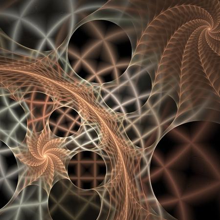 latticed: Fractal texture resembling latticed spiral on black background