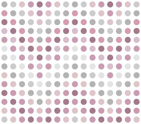 Seamless dotted chevron pattern in pink and grey spectrum on white