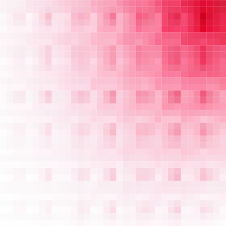 pixelated: Pixelated background with diagonal gradation from red to white color Stock Photo