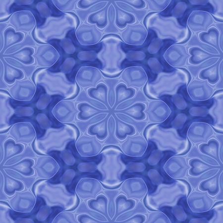 classic contrast: Seamless kaleidoscope texture or pattern in blue 3 - wallpaper pattern Stock Photo