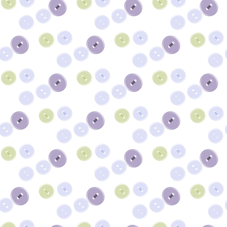 boyish: Seamless pattern of pastel colored buttons on white background
